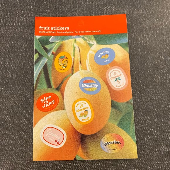 [NWT] Glossier Fruit Stickers